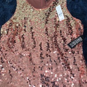 Rose Gold  Glitter Dress